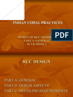 Codal Practices for Rcc Design Part a General by VKMehta