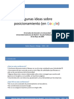 Algunas Ideas Sobre Posicionamiento-2009