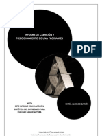Informe Creacion y Posicionamiento Web