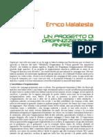 Errico Malatesta - Un progetto di organizzazione anarchica