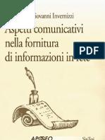 Giovanni Invernizzi - Aspetti comunicativi nella fornitura di informazioni in rete