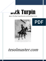 tesolmaster.com Dick Turpin Jigsaw Reading Comprehension and Speaking Lesson