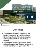 Perioperative Use of Renin-Angiotensin-Aldosterone System Antagonists