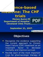 Evidence Based Approach in Congestive Heart Failure