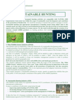 Sustainable Hunting