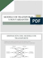 Modelo de Transporte y Sus Variantes