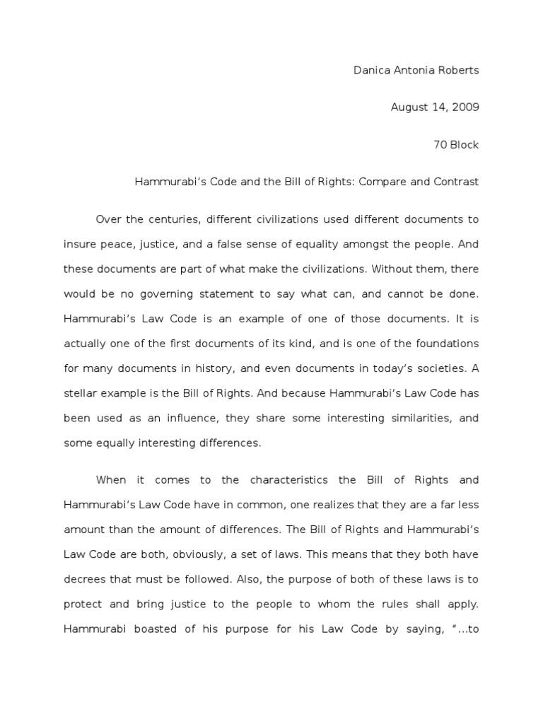 hammurabi s code v the bill of rights hammurabi ethical hammurabi s code v the bill of rights hammurabi ethical principles