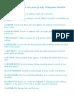 Virtues Worksheet