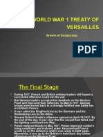 Treaty of Versailles & Background of WWII