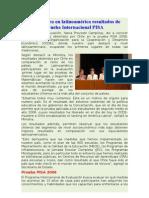 Chile lidera en latinoamérica resultados de prueba Internacional PISA