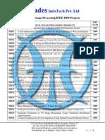 Matlab IEEE 2009 Projects @ Hades InfoTech