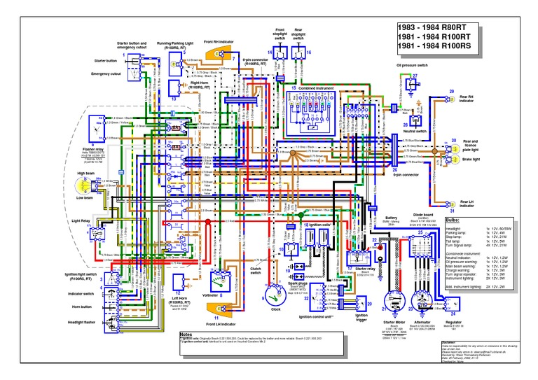 R100rs-rt Wiring Diagram