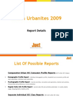 Information Coverage of Juxt Indian Urbanites 2009 Study Reports