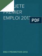 Enquête premier emploi 2013 EMLV