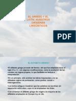 EL GRIEGO Y EL LATÍN. NUESTROS ORÍGENES LINGÜÍSTICOS