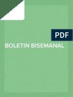Boletín informativo del 5 al 19 de enero de 2014