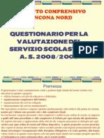 Questionario valutazione servizio 2008-09