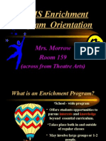 Enrichment Program Orientation 0910