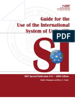 Guide for the Use of the International System Units