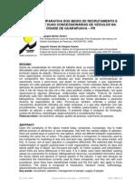 ANÁLISE COMPARATIVA DOS MEIOS DE RECRUTAMENTO E SELEÇÃO DE DUAS CONCESSIONÁRIAS DE VEÍCULOS NA CIDADE DE GUARAPUAVA – PR