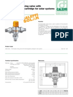 Caleffi Thermostatic High Flow Mixing Valve With Interchangeable Cartridge for Solar Systems Specifications