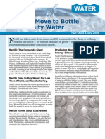 Nestlé's Move to Bottle Community Water