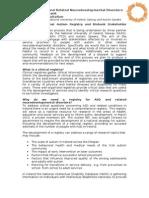 Info Sheet ASD NDD Registry Biobank Consultation Meetings