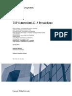 TSP Symposium 2013 Proceedings