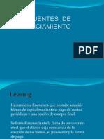 Fuentes de Financiamiento Leasing y Leaseback