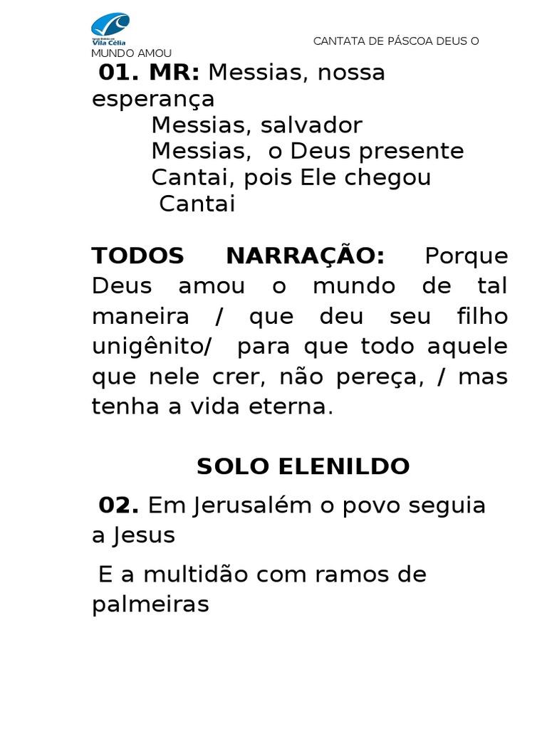 MUNDO DEUS PSCOA CANTATA AMOU DE O BAIXAR