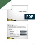 Manufacturing Process - Screw Threads