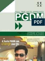 Taxila Business School prospectus 2014