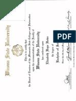 degree and award