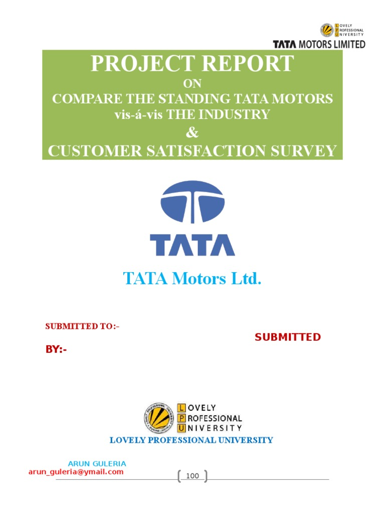 project on tata Thanks to the local population severe opposition to the car factory, the company withdrew from the fertile lands of singur still the farmers have not been given back.