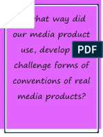in what way did our media product challenge