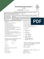 Autoevaluación de ecuaciones 3º ESO