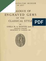 Met Museum of Art Catalogue of Engraved Gems Gisela Richter 1