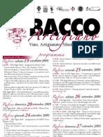 Programma del Bacco Artigiano 2009 a Rufina e Firenze