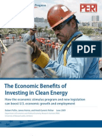 The Economic Benefits of Investing in Clean Energy