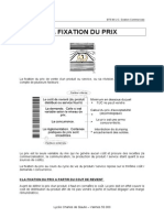 Fixation Du Prix
