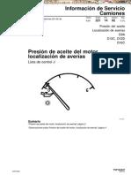 Manual Presion Aceite Motor Camiones Volvo