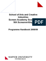 MA Screenwriting Programme Handbook