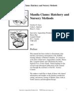 Manila Clams Hatchery and Nursery Methods