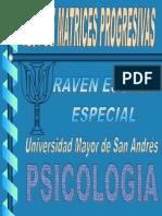 Test Raven Matrices Progresivas Escala Coloreada