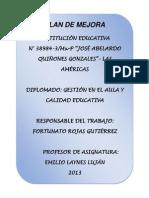 Plan de Mejora, José Abelardo Quiñones