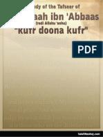 Tafseer of Ibn Abbas Kufr Doona Kufr