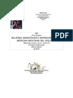 Mujeres Monstruos e Impresiones en La Medicina Mexicana