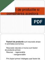 3 Factorii de Productie Si Combinarea Acestora