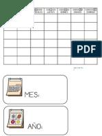 Carteles Calendario-Agenda Del Mes