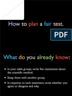 how to do a fair test copy
